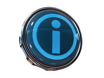 3d icon Info. 3d scene icon with symbol of the Info Royalty Free Stock Images
