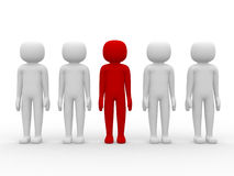 3d icon people - leadership and team Royalty Free Stock Photo