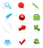 3d icon set Royalty Free Stock Photos