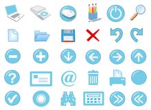3d icon set. 3d computer icon set - computer generated Stock Photos