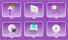 3d icon set. 3d computer icon set - computer generated clip-art Stock Photography