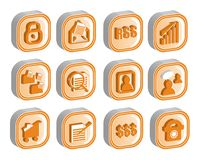 3D Icon Set 2 vector royalty free stock image