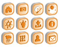 3D Icon Set 2 vector. 3D icons illustration vector format Stock Image