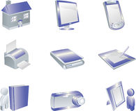 3d Icon Set Royalty Free Stock Images