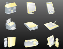 3d Icon Set Royalty Free Stock Image