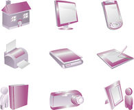 3d Icon Set Stock Images
