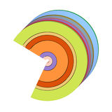 3d icon shape in rainbow color on white Royalty Free Stock Photography