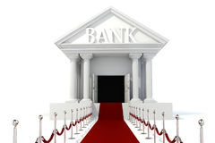 3d icon of vintage bank building. On white background Royalty Free Stock Photo