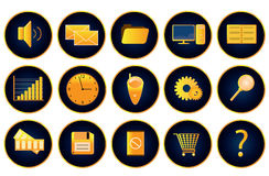 3d icon vol16 (gold). Buttons for a web or icon for a computer Royalty Free Illustration
