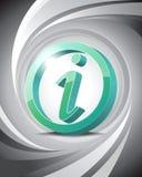 3D icona Info Immagini Stock
