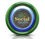 3d icona - wordcloud di seo Fotografia Stock Libera da Diritti