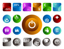 3d icons Royalty Free Stock Images