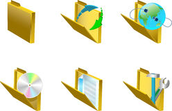 3d icons. Royalty Free Stock Photo