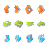 3d icons. Set of 3D icons, vector illustration Royalty Free Stock Photos