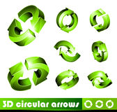 3D Icons: Arrows Royalty Free Stock Images