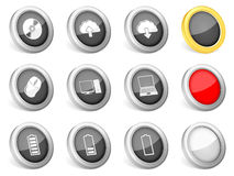 3d icons computer. On white background Stock Photos