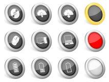 3d icons computer Stock Photos