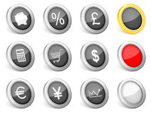 3d icons finances. On white background Stock Images