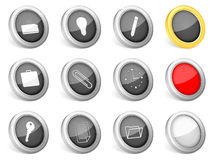 3d icons office Stock Photos
