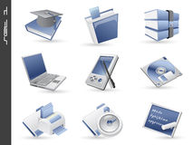 3d icons set 01 Royalty Free Stock Photo