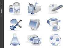 3d icons set 06 stock illustration