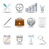 3D icons v.1. A set of 12 smart 3D icons royalty free illustration