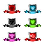 3D Icons Valentines Day Award Shields Royalty Free Stock Photography