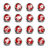 3D Icons Valentines Day Set. 16 3D icons set with valentines day theme royalty free illustration