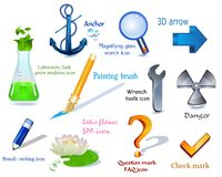 3d icons vector set Stock Photography