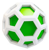 3d icosahedron abstract model. On white background Stock Images