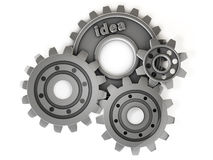 3d idea gear Royalty Free Stock Images