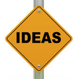 3d ideas road sign Royalty Free Stock Photos