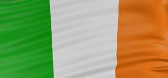3D Ierse vlag Royalty-vrije Stock Foto