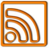 3d ikon rss Zdjęcia Stock