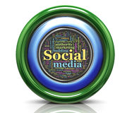 3d Ikone - seo wordcloud Lizenzfreies Stockfoto