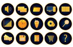 3d Ikone vol16 (Gold) des Vektor Lizenzfreie Stockfotografie