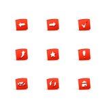 3d ikony Obrazy Stock