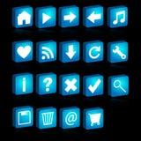 3d ikony sieć Obraz Stock