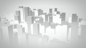 3D Illustrated City. 3D City illustrated city faded against white Royalty Free Stock Image