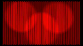 3d Illustrated Theatre Curtain in red Royalty Free Stock Photography
