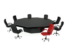 3d illustratie: Een groep stoelen Royalty-vrije Stock Foto's