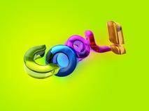 3D illustratie van het Koele woord! Stock Foto's