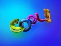 3D illustratie van het Koele woord! Royalty-vrije Stock Fotografie