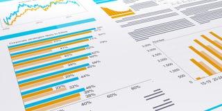 3d illustratie van zaken Stock Afbeeldingen
