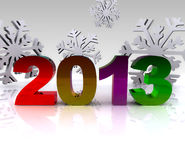 3d illustration - 2013. 3d illustration with written numbers 2013 Royalty Free Stock Photos