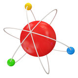 3d Illustration of Atom Royalty Free Stock Image