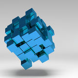 3d illustration basic geometric shapes Royalty Free Stock Images