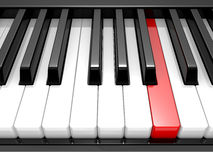 3d illustration black & white piano keys Stock Photo
