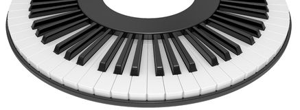3d illustration black & white piano keys Royalty Free Stock Images