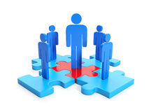 3d illustration, business cooperation. Royalty Free Stock Photos
